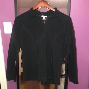 L.L. Bean Tops - L. L. Bean Black Fleece Quarter Zip